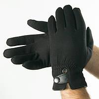 Мужские зимние трикотажные перчатки с искусственным мехом   № 18-1-29/2, фото 1