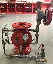 Вузол керування дренчерной системи пожежогасіння фланцевий DN 50 вертикальний з електропуском