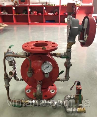 Вузол керування дренчерной системи пожежогасіння фланцевий DN 50 вертикальний з електропуском, фото 2