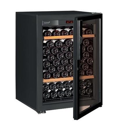 Винный шкаф EuroCave V-Pure-S Стеклянная дверь Full glass, цвет - черный, стандартная комплектация