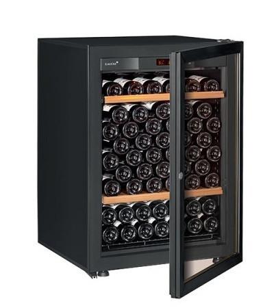 Винный шкаф EuroCave V-Pure-S Стеклянная дверь в раме, цвет - черный, стандартная комплектация