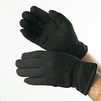 Оптом мужские зимние  трикотажные перчатки с искусственным мехом   № 18-1-29/3, фото 1