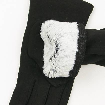 Оптом мужские зимние  трикотажные перчатки с искусственным мехом   № 18-1-29/3, фото 3