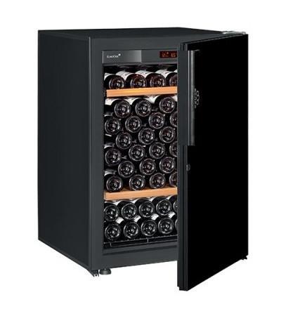 Винный шкаф EuroCave V-Pure-S Сплошная дверь Black Piano, цвет - черный, стандартная комплектация