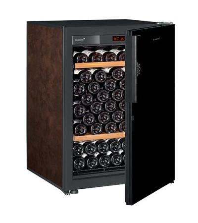Винный шкаф EuroCave V-Pure-S Сплошная дверь Black Piano, цвет - буйвол, стандартная комплектация