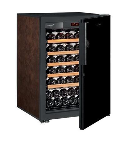Винный шкаф EuroCave V-Pure-S Сплошная дверь Black Piano, цвет - буйвол, максимальная комплектация