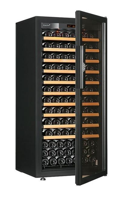 Винный шкаф EuroCave V-Pure-M Стеклянная дверь Full glass, цвет - черный, максимальная комплектация