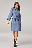 Женское платье оверсайз с карманами Lipar Джинс