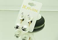 Длинные сережки с принтом - модная бижутерия RRR- пусеты в стиле Dior. 220