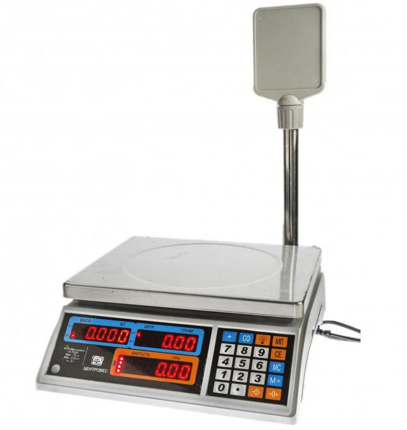 Весы торговые ВТЕ-Центровес-15Т2-ДВ-(СВ) с RS232