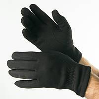 Мужские зимние трикотажные перчатки с махровой подкладкой   № 18-1-30/1, фото 1