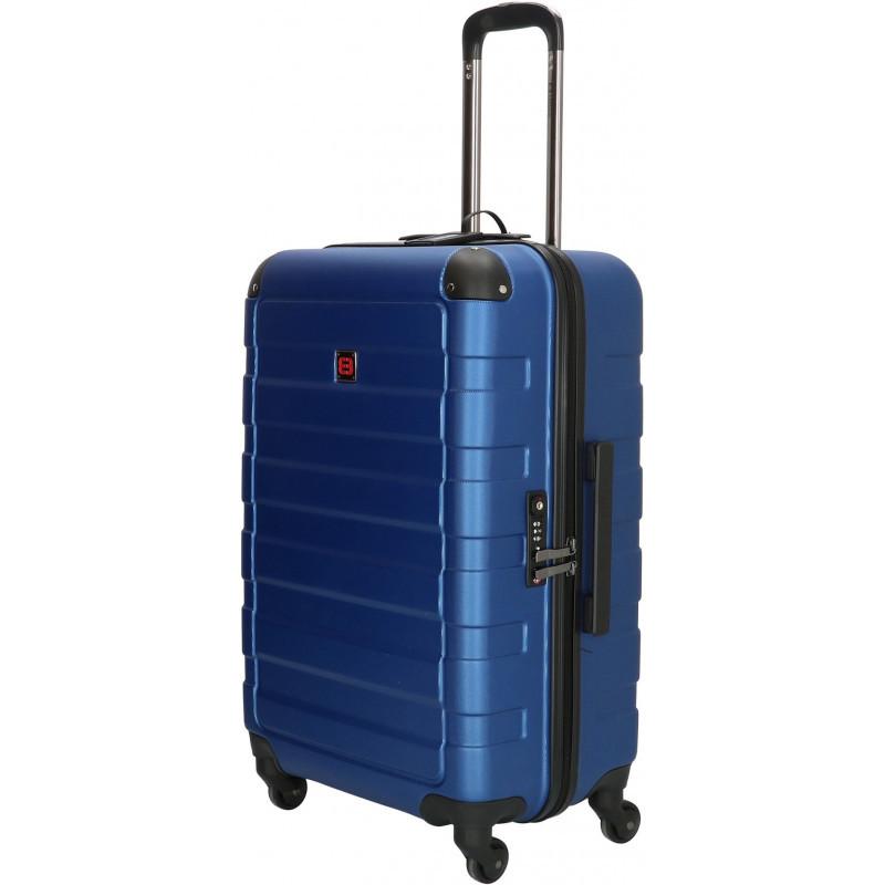 Чемодан Enrico Benetti LITTLE ROCK/Steel Blue M Средний Eb39041 088-60