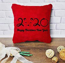 """Новорічний подарунок - подушка з вишивкою """"2020""""  02"""