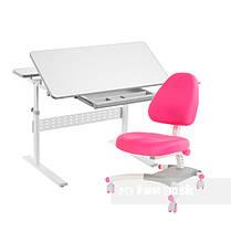 Комплект парта Colore Grey + подростковое кресло для дома Ottimo Pink FunDesk, фото 3