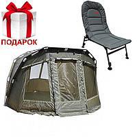 Карповая палатка с зимней накидкой Carp Zoom Frontier Bivvy & Overwrap (290x290x163cm)