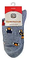 Носки женские хлопковые Брестские Classic 16С1102, р.23, рис.165, серый меланж Совы