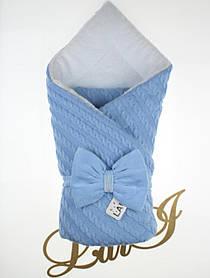 Зимний конверт-одеяло для новорожденных Дуэт 2 голубой