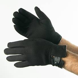 Оптом мужские зимние трикотажные перчатки с махровой подкладкой   № 18-1-30/2