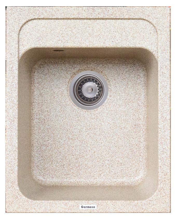 Гранитная мойка Platinum KORRADO 4050 матовая карамель