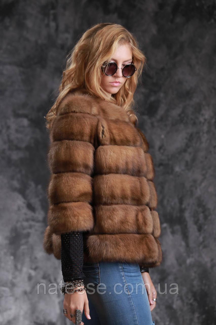 Кожушок з соболя з рукавом 3\4 sable jacket fur coat