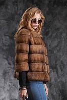 Полушубок из соболя с рукавом 3\4 sable jacket fur coat , фото 1