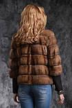 Кожушок з соболя з рукавом 3\4 sable jacket fur coat, фото 2