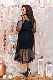 Ошатне жіноче плаття двійка Розмір 48 50 52 54 56 58 60 62 64 В наявності 4 кольори, фото 3