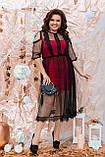 Нарядное женское платье двойка Размер 48 50 52 54 56 58 60 62 64 В наличии 4 цвета, фото 5