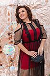 Ошатне жіноче плаття двійка Розмір 48 50 52 54 56 58 60 62 64 В наявності 4 кольори, фото 4