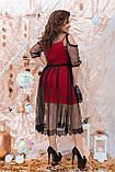 Ошатне жіноче плаття двійка Розмір 48 50 52 54 56 58 60 62 64 В наявності 4 кольори, фото 8
