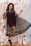 Ошатне жіноче плаття двійка Розмір 48 50 52 54 56 58 60 62 64 В наявності 4 кольори, фото 6