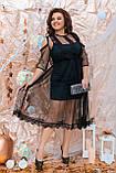 Ошатне жіноче плаття двійка Розмір 48 50 52 54 56 58 60 62 64 В наявності 4 кольори, фото 7