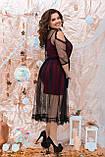 Нарядное женское платье двойка Размер 48 50 52 54 56 58 60 62 64 В наличии 4 цвета, фото 10
