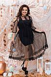 Ошатне жіноче плаття двійка Розмір 48 50 52 54 56 58 60 62 64 В наявності 4 кольори, фото 9