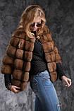 Кожушок з соболя з рукавом 3\4 sable jacket fur coat, фото 3