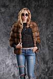 Кожушок з соболя з рукавом 3\4 sable jacket fur coat, фото 6