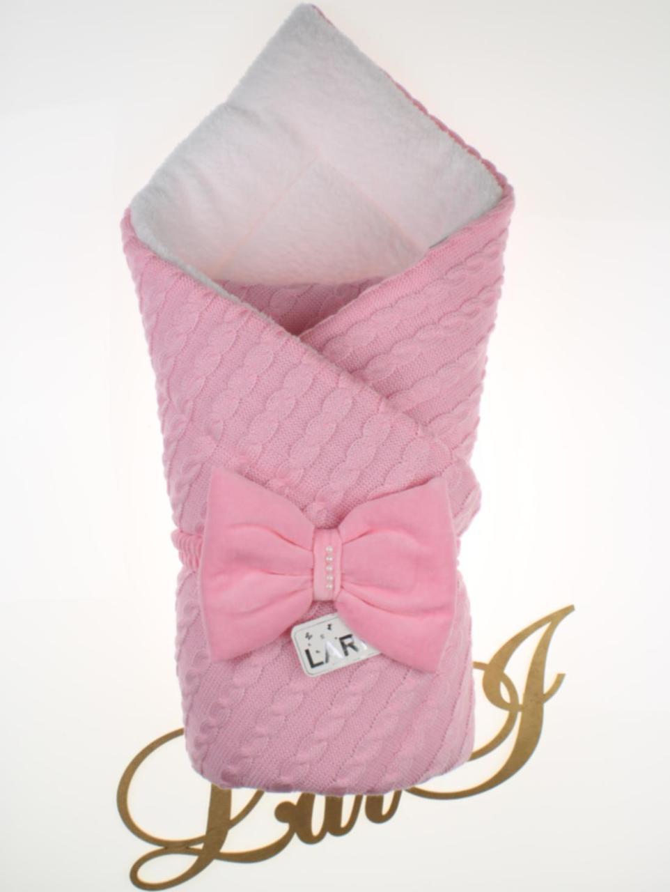 Зимний конверт-одеяло для новорожденных Дуэт 2 розовый
