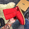 Женские Ugg Classic Leather Red., фото 5