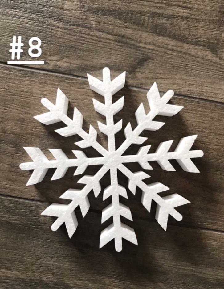 Снежинка из пенопласта №8 15см*2см
