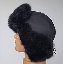 Мужская зимняя шапка ушанка с натуральным мехом лисы