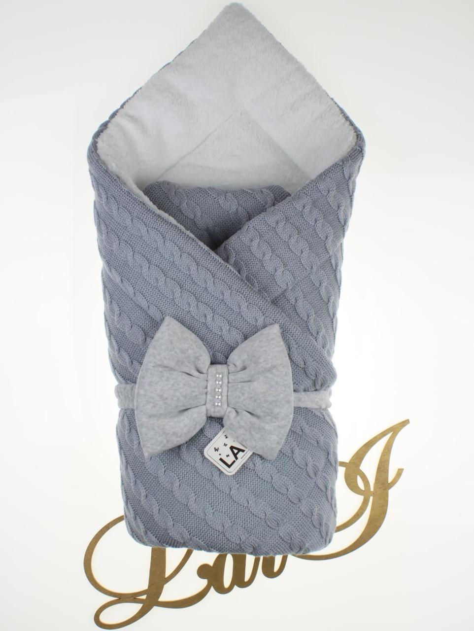 Зимний конверт-одеяло для новорожденных Дуэт 2, серый