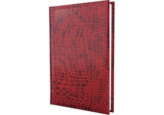 Щоденник недатований, А6, Croco, червоний