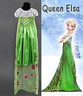 Карнавальный костюм для девочки королева Эльза Фроузен, р. 110 см. S, фото 1