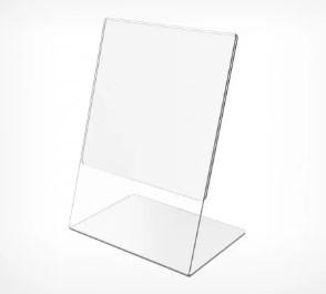 Ценникодержатель А4 формата L- образный вертикальный