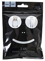 USB кабель для iPhone Lightning (кабель для зарядки айфона) 1 метр Hoco X13 2.4A (Микс) (90039)