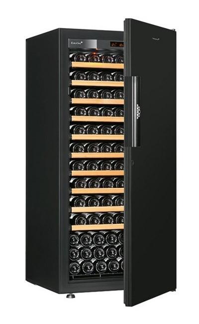 Винный шкаф EuroCave V-Pure-M Сплошная дверь Black Piano, цвет - черный, максимальная комплектация