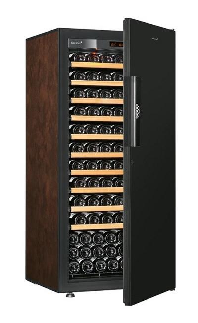 Винный шкаф EuroCave V-Pure-M Сплошная дверь Black Piano, цвет - буйвол, максимальная комплектация