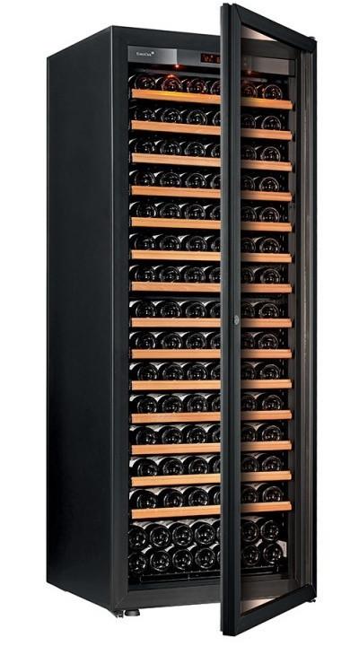 Винный шкаф EuroCave V-Pure-L Стеклянная дверь в раме, цвет - черный, максимальная комплектация