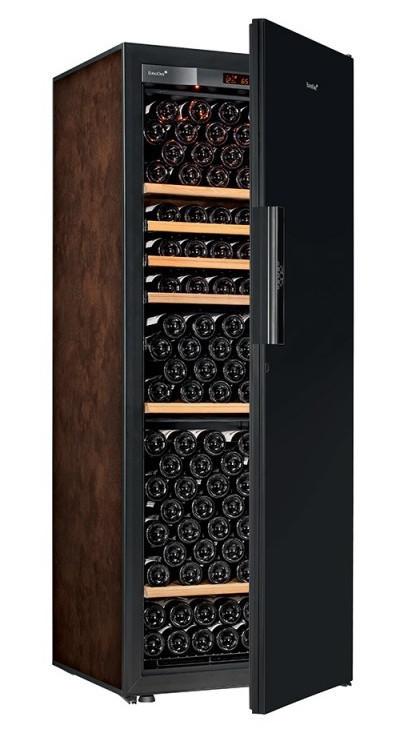 Винный шкаф EuroCave V-Pure-L Сплошная дверь Black Piano, цвет - буйвол, стандартная комплектация
