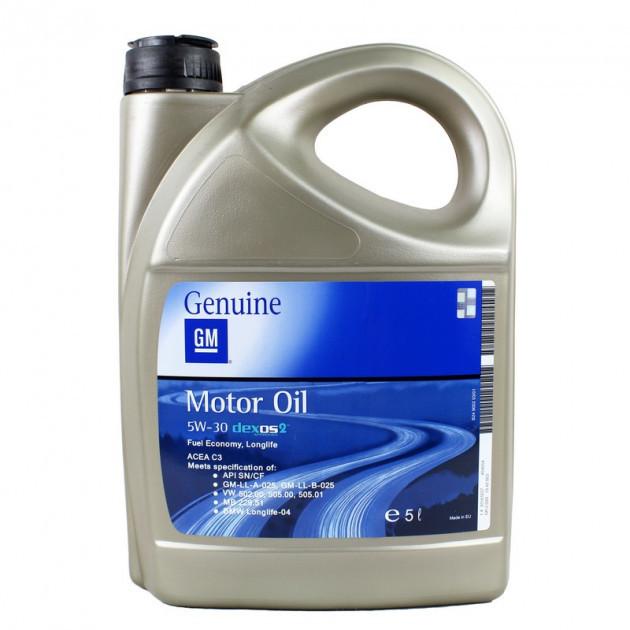 Моторное масло GM DEXOS2 5W-30, 5л.